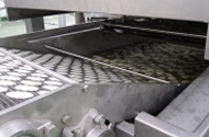 fabricated potato chip fryer infeed conveyor